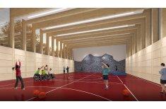 Innenansicht der geplanten Multifunktionshalle Hölkeskampring Herne