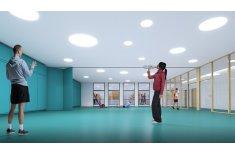 Blick in die geplante Multifunktionshalle Hölkeskampring Herne